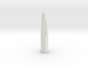 Willis Tower (1:2000) in White Natural Versatile Plastic