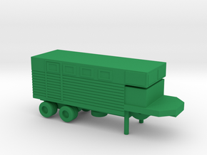 1/144 Scale M750 Trailer in Green Strong & Flexible Polished