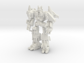 Superion (CW) Miniature in White Natural Versatile Plastic: Medium