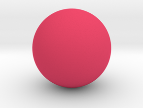 Sphere Shape in Pink Processed Versatile Plastic