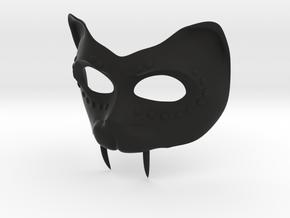 "Masquerade Mask ""Panther"" in Black Natural Versatile Plastic"