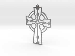 Cross Frame Style with Fish and Shell in Natural Silver