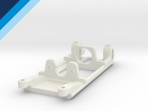 Small Can Reverse motor mount - Slot.it compatible in White Strong & Flexible