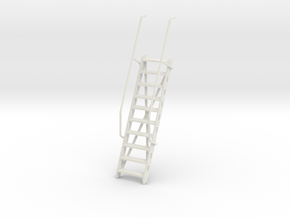 1/32 DKM Gangway (Ladder) v2 in White Natural Versatile Plastic