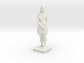 Printle C Femme 085 - 1/18  in White Strong & Flexible