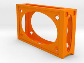 Business Card Holder - Pro1 in Orange Processed Versatile Plastic
