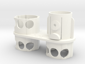 For Dyson V7/V8 - Left Wall Adapter in White Processed Versatile Plastic