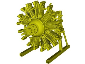 1/10 scale Wright J-5 Whirlwind R-790 engine x 1 in Smooth Fine Detail Plastic