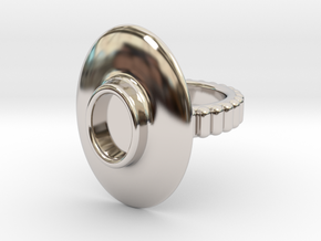 "Ring ""Albrecht"" in Rhodium Plated Brass: 5.5 / 50.25"
