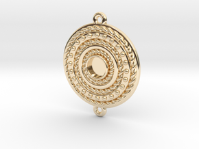 "Pendant ""Rotonde"" in 14k Gold Plated"