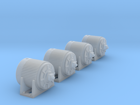 1:87 Electric Motor - V2 4ea in Frosted Ultra Detail