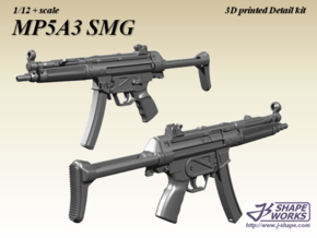 1/9 MP5A3 SMG in Frosted Extreme Detail