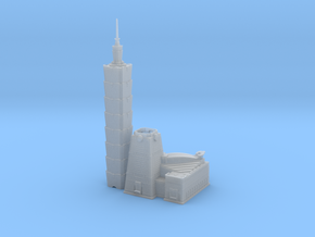 Taipei 101 (1:2000) in Smooth Fine Detail Plastic