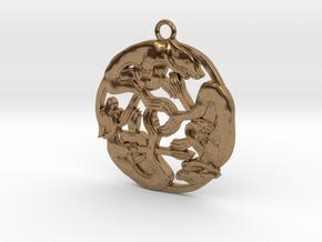 Celtic-Dog in Natural Brass