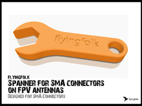 Spanner for SMA connectors on FPV antennas in White Natural Versatile Plastic