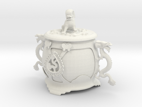 Printle Chinese Funerary Urn in White Strong & Flexible