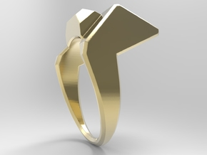 Knee Ring_G in 18k Gold Plated Brass: 10 / 61.5