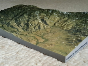 "Saguaro East Map - 8.5""x11"" in Glossy Full Color Sandstone"
