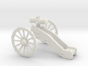 AF French Howitzer 7 Years War 28mm in White Natural Versatile Plastic