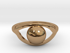 All-Seeing ring in Polished Brass: 6 / 51.5