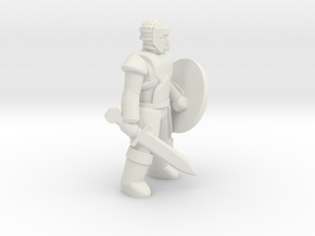 General Fighter Mini 2 (Sword and Shield) in White Strong & Flexible: 1:56