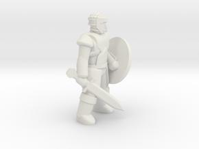 General Fighter Mini 2 (Sword and Shield) in White Natural Versatile Plastic: 1:56