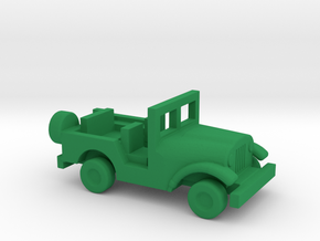 1/200 Scale M38A1 Jeep in Green Strong & Flexible Polished