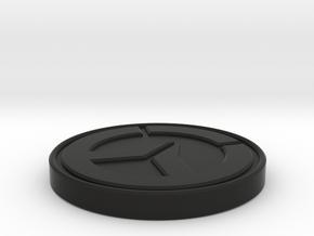 Custom Coin [OVERWATCH] in Black Natural Versatile Plastic
