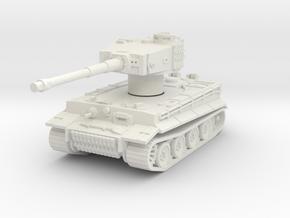 Pzkpfw VI Tiger Rotatable Turret in White Natural Versatile Plastic