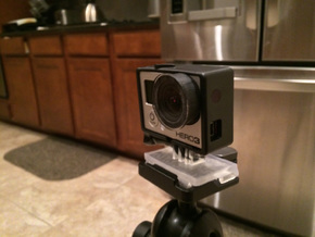 GoPro Quick Release Mount for Manfrotto Tripod in Black Natural Versatile Plastic