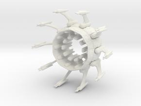 Ipsha Battle Globe (50mm) in White Natural Versatile Plastic