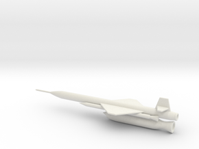 1/144 Scale X-7 Missile in White Natural Versatile Plastic