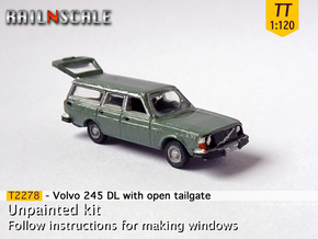 Volvo 245 DL with open tailgate (TT 1:120) in Smooth Fine Detail Plastic