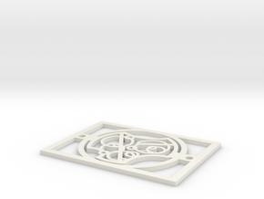 Gallifreyan Light Plate - I Love You in White Natural Versatile Plastic