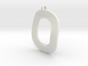 Distorted letter O in White Natural Versatile Plastic