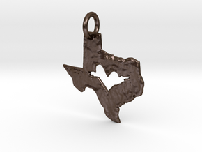 Soaring Heart of Texas in Polished Bronze Steel