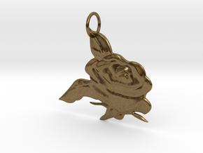 Rose Pendant in Natural Bronze