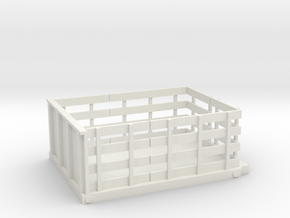 Stake Bed Flat Bed S 1-64 Scale in White Natural Versatile Plastic