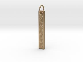 Celtic Knot Pendant 2 in Polished Gold Steel
