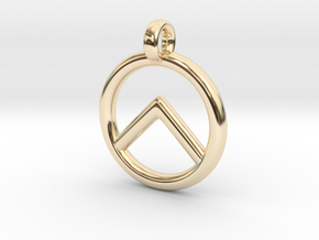 Spartan Shield Pendant/Keychain in 14k Gold Plated Brass