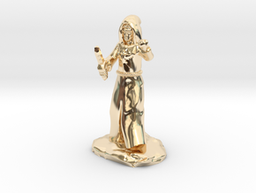 Dragon Cultist with Dagger in 14k Gold Plated Brass