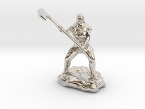 Female Human Cleric of Wee Jas With Scythe in Rhodium Plated Brass