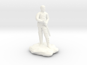 Human  Ranger with Katana in White Processed Versatile Plastic
