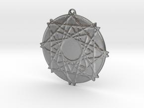 Lattice Star Pendant in Natural Silver