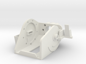 MG151 Gun Mount 1:10 in White Natural Versatile Plastic