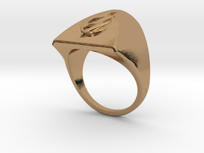Flash Ring S B in Polished Brass: 3 / 44