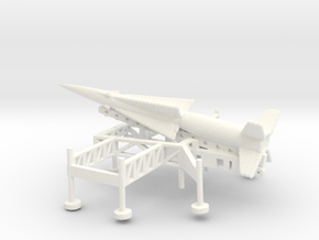 1/285 Scale Nike Ajax Laucher And Missile in White Strong & Flexible Polished