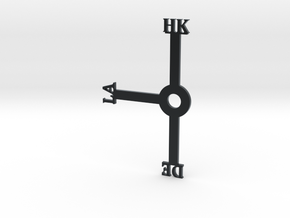 Hong Kong Clock (Honk Klonk) (For Daylight Savings in Black Hi-Def Acrylate