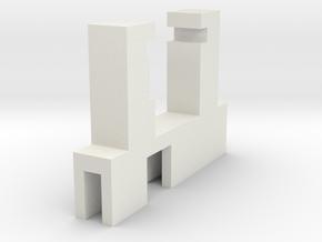 Halter Maerklin LS E-Modell LX-U ausgeschnitten in White Strong & Flexible
