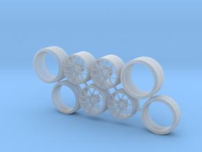SET TSW Zenon 23 inch+Tire for Aoshima - 1/24 in Smooth Fine Detail Plastic